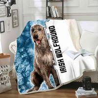 Cloocl Pet Dog Irish Wolfhound Blanket Printed Soft Warm for Beds Animals Home Decor Fashion Baby Throw IGXJ730