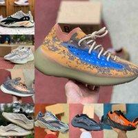 Yüksek Kaliteli Kanyes Atalet Erkek Koşu Ayakkabıları Batı V2 V3 380 Dalga Siyah Statik Koşucu Mnvn Katı Gri Mıknatıs Kemik Tephra Geode Bayan Sneakers