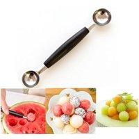 Tools DoubleDing Ice Scoop Edelstahl Fruit Melon Baller Carving Messer Multifunktions-Löffel-Stapel 9P5ND VISSD