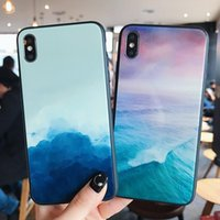 Clouds of ink or colorful oceans glass mobile phone cases for iPhone 12 11 pro promax X XS Max 7 8 Plus