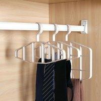 Appendiabiti Racks Tie Hanger Gancio Silk Sciarpa in pelle Cintura in pelle Closet Spazio Saving Hook Gancio per uso domestico Rack multifunzionale