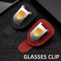 Other Interior Accessories Wholesale 20pcs Car Glasses Holder For 911 918 Panamera Macan Sunglasses Clip Portable Eyewear Ca