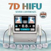 Lastest 7D HIFU 2 handle machine wrinkle removal face lifting body slimming beauty equipment logo customization user manual