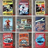 Metal Lata Sinais Sinclair Motor Óleo Texaco Poster Home Bar Decoração Da Arte Da Parede Imagens Vintage Garagem Sinal Homem Caverna Retro Sinais FWB6423