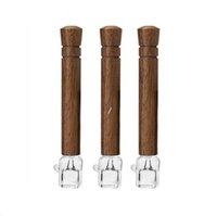 쿼츠 유리 버너와 나무 흡연 파이프 98mm 68mm Tobacco herb 훈련 파이프 액세서리 Nha5564