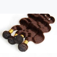 Light Brown Human Hair Weaves Bundles Color 4 # Brasiliano peruviano malese indiano Eurasian Eurasian Euroasian Body Wave Virgin Remy Extensions 7a