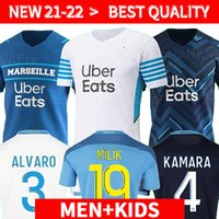 Olympique de Marseille Soccer Jersey 2021 2022 Om Marseille de Maillot Foot Payet Thauvin Benedetto Polo Jerseys 20 22 Marseille Milik Shirts