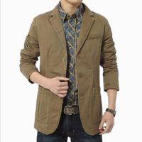 Men's Suits & Blazers 2021 Spring Autumn Luxury Men Fashion Brand High Quality Cargo Suit Casual