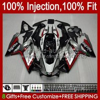 Injection Body For Aprilia RS4 RS-125 RSV RS 125 RR 125RR 06-11 34No.0 RSV-125 RSV125 RS125 R 06 07 08 09 10 11 RSV125RR 2006 2007 2008 2009 2010 2011 Fairings Silvery Black