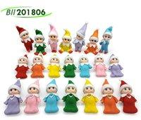 Christmas Plaid Baby Elf Doll w Plaid Odzież Odzież Z Feet Buty Babys Elves Lalki Lekkie Skóry Ciemne Skórki Zabawki 100x