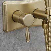 에너지 절약 스테인레스 스틸 화장실 핸드 헬드 비데 분무기 키트 뜨거운 물과 차가운 물 닦 았된 금 세트