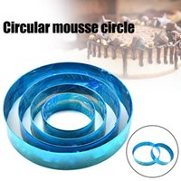 Baking & Pastry Tools Cake Template Stainless Steel Round Mousse Ring Maker Anti-Rust Easy To Clean ANDF889
