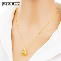 Pendants Vintage Dubai 24K Gold Cutout Lantern Pendant Round Ball & Necklaces For Women Accessories (without Chain)