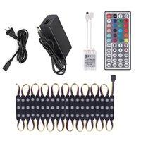 3LED RGB LED Light Module 5050 SMD Modules Store Front Window Sign Strip Lights Storefront DC12V Power+Control+Color Box crestech