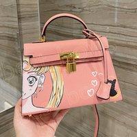 Luxurys designers high Quality bags Ladies 2021 Sailor Moon pattern shoulder bag handbag Women fashion mother handbags cossbody totes temperamentt dancing party