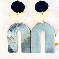 Aensoa ciondola orecchini a goccia argilla rinfrescante orientatrice geometrica a orecchino moda grande lunghezza polimero argilla orecchino gioielli unici 775 Q2