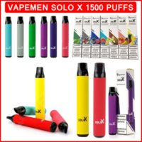 Vapeman Solo X Disposable Vape 1500 Puffs Electronic Cigarette 850mAh Battery Pen Pod Device 4.2ml Prefilled Cartridges Strater Kits