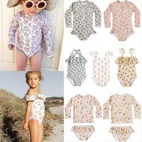 ملابس السباحة قطعة واحدة مجموعة الصيف رايل العلامة التجارية تصميم الفتيات الكرز المايوه طفل الفتيان طفل أزياء بيكيني الملابس