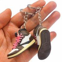 Travis Scott Pure Handmade Basketballschuhe Modell 3D Männer und Frauen Schlüssel Auto Schlüsselanhänger Ketten Einzelne Kreative Kollektion Handwerk 5 Arten