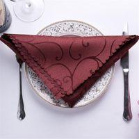 Tabela do guardanapo TAI Top 10pcs / set 48 * 48 cm para festa de casamento cetim lenço pano guardanapo de guardanapos
