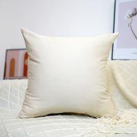 100% cotton Sofa Throw Pillowcase Pure Color Cushion Cover Pillow Blank Wholesale