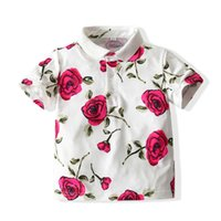 Çocuğun T-shirt Kısa Kollu Polo's Yaka T-shirt Yaz Çocuk Tshirt Moda Baskılı Tshirt Çocuklar Tops 90 100 110 120 130