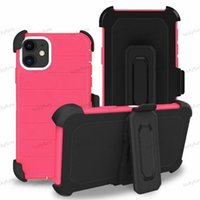 TPU+PC Defender Holster Belt Clip phone Cases for iphone 12 11 Pro Max Samsung Galaxy S20 Ultra S10 Plus S10e w  Kickstand Cover case