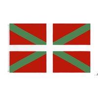 Bask Natinal Bayrak Perakende Doğrudan Fabrika 3x5fts 90x150 cm Polyester Banner Kapalı Açık Kullanım Tuval Kafa ile Metal Grommet FWB9349