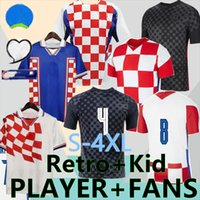 S-4XL 2021 Futbol Forması Hrvatska Modrit Mandzukik Rakitic Perisic Kalinic Kovacic 20 21 Ulusal Futbol Retro 1998 2000 Erkekler + Çocuk Seti Tayland Kalite