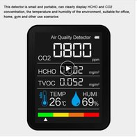K07 Gas Detector Meter Multifunctional Household Air Quality Monitor Temperature Humidity Tester LCD Display with Backlight
