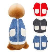 Dog Apparel Cute Pet Clothes Soft Fleece Shirt Puppy Kitten Coat For Small Medium Cats Warm Winter Cat Jacket Clothing Chihuahua