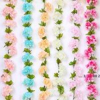 New2.2m Artificial Flor De Cerejeira Flores De Casamento Garland Hera Decoração Falsa De Seda Flores Videira Para Party Arch Home Decor String EWD5502