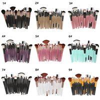 25 Makeup Brush Set 25pcs Cosmetic Blusher Foundation Eye Shadow Make Up Brushes Kit Face kabuki Brush Tools