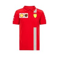 Formula Bir Yarış Takım Elbise F1 Araba Logosu Polo Yarım Kollu Tişört Yaz Rahat Spor Üst