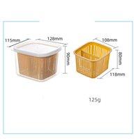 Caixa de armazenamento de frutas de plástico 2 Lettices selados crisper grãos tanque de tanque de cozinha classificando caixas de recipiente de alimentos NHE6360