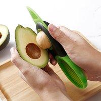 Multifuncional abacate ferramenta cortador de casca separador de celulose cozinha vegetal slicer 3 em 1 faca para cortar abacate durável FWB6669