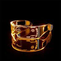 Parti Malzemeleri LED Gözlük Yaratıcı Flaş Aydınlık Gözlük LED Işık Gözlük Gelecek Teknoloji Gözlükler Bar Flaş GözlüklerZC212