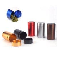 Liga de alumínio Chás de armazenamento de armazenamento selado latas de metal selado Casa viagens de café portátil de café portátil pode mini recipiente 45 * 68mm hwb6032