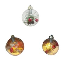 Party Decoration Illuminate Hanging Crystal Ball Christmas Tree Ornament Bulb Wedding Lights Garden Holiday Lamp Xmas Decor