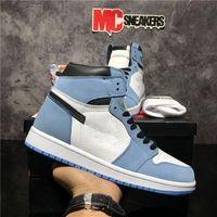 Top Quality Jumpman 1 1s Juventude Meninos Homens Mulheres Alto Retro Basquetebol Sapatos Travis Scotts Fearless Obsidian Unc Unchletics Sneakers