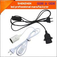 1.8m 전원 코드 케이블 스위치 220V E27 램프베이스 홀더 EU 매달려 펜던트 LED 조명기구 조명 전구 소켓 코드 어댑터