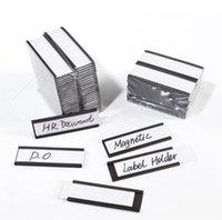 """BAGNETTI DI FRIGGINI """"C"""" Biglietti da etichetta magnetica con inserti in carta e protezioni di plastica trasparente, segno di superficie in metallo, strisce di ricambio"""