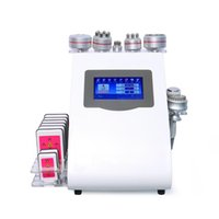 Multifunctional 9 in 1 40k Ultrasonic Cavitation Slimming Vacuum Pressotherapy Radio Frequency Cold Hammer 8 Pads Burn Laser Diode Lipo Weight Loss Machine