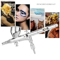 Professional Spray Guns Gravity Feed Dual Action Airbrush Set For Art Painting Tattoo Manicure Paint Hobby Model Air Brush Nail Tool