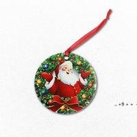 US Stock Image Decorações Sublimação Ornamentos Em Branco Pingentes Personalizado Árvore de Natal Pingente De Madeira Decoração Pendurado