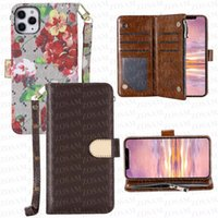 Luxurys Floral Letter Folio Wallet Cell Phone Cases For iPhone 13 Mini 13pro 12 Pro Max 12pro 11 11pro X Xs Xsmax Leather Functions Storage Holder Case Cover