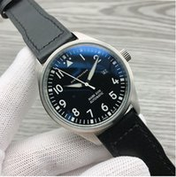 2021 Luxury News Mens Watches Automatic Mechanical Stainless Steel Black Leather Simple 41MM PILOTS WATCH MARK XVIII Outdoor