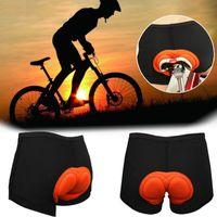 유니섹스 사이클링 반바지 두꺼운 실리콘 패드 자전거 팬티 충격 흡수 통기성 편안한 속옷 자전거 짧은 바지