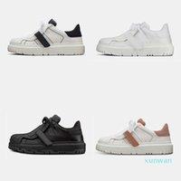 2021 Kadın Tasarımcı KIMLIK Sneaker Buzağı Derisi Ayakkabı Kauçuk Taban Eğitmen Lace Up Platformu Ayakkabı Koşucu Ile KUTUSU 277