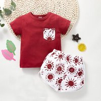 Clothing Sets #VW Summer Baby Boys Girls Clothes Short Sleeve O-Neck T-shirt Tops+Sun Printed Shorts Outfits Children Casual Ropa Niños